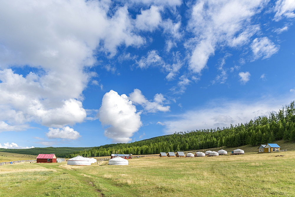 Tourist ger camp. Burentogtokh district, Hovsgol province, Mongolia.
