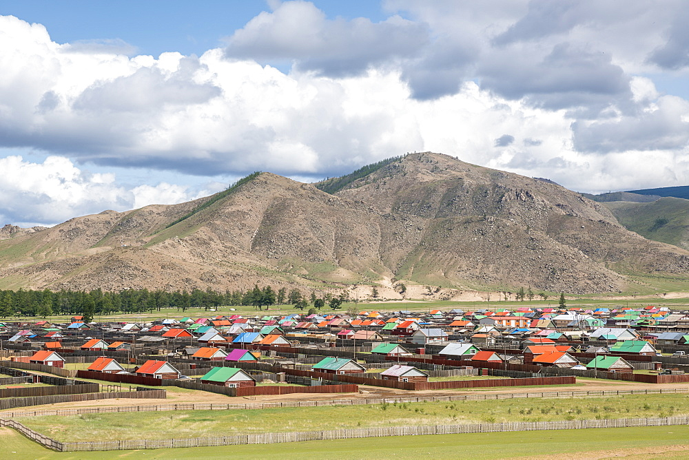 The town of Orgil. Jargalant district, Hovsgol province, Mongolia.