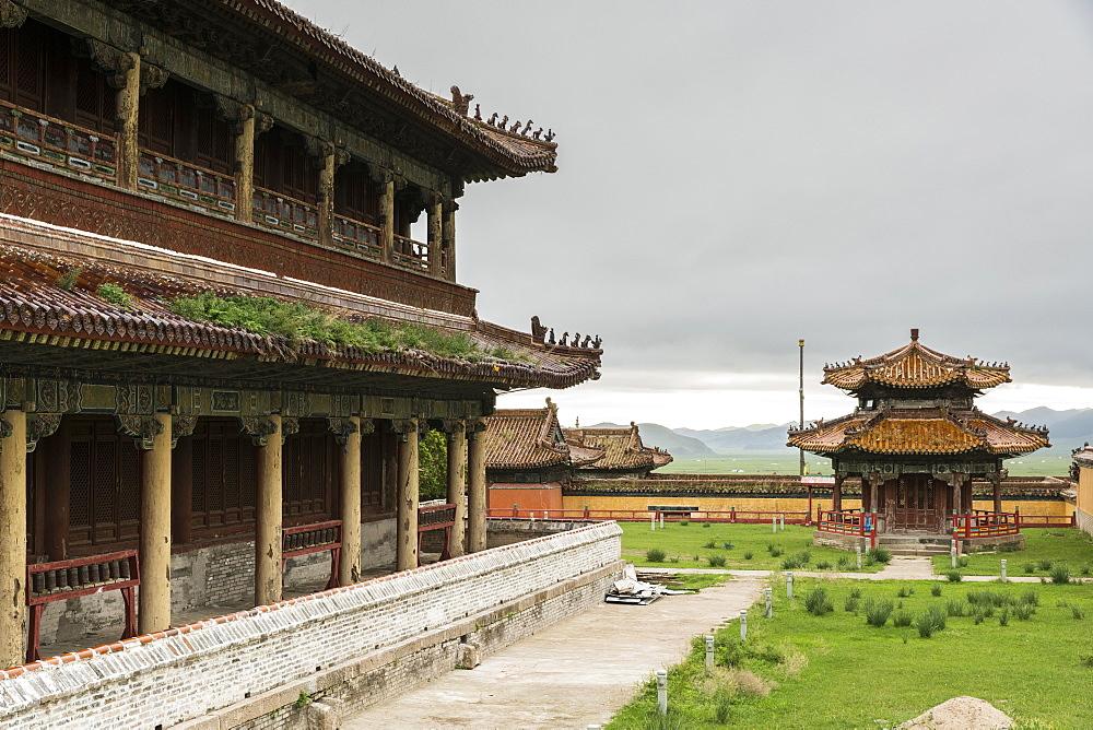 Temples in Amarbayasgalant Monastery, Mount Buren-Khaan, Baruunburen district, Selenge province, Mongolia, Central Asia, Asia