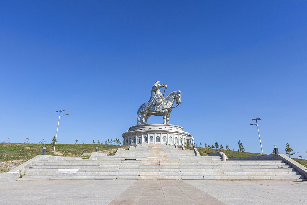 Stairs to Genghis Khan Statue Complex. Erdene, Tov province, Mongolia. - 1251-387