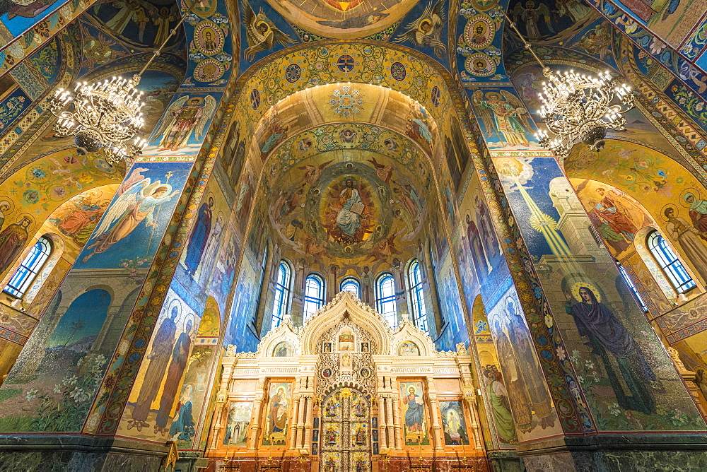 Interiors of the Church of the Saviour on Spilled Blood. Saint Petersburg, Russia. - 1251-444