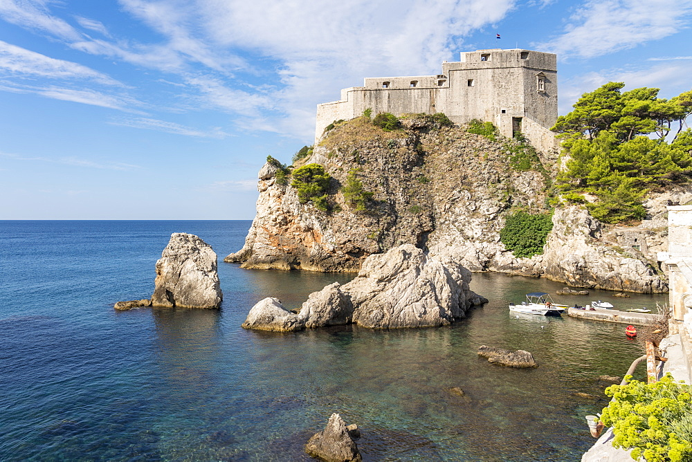 Fort Lovrijenac (St. Lawrence fortress), in summer, Dubrovnik, Dubrovnik-Neretva county, Croatia, Europe