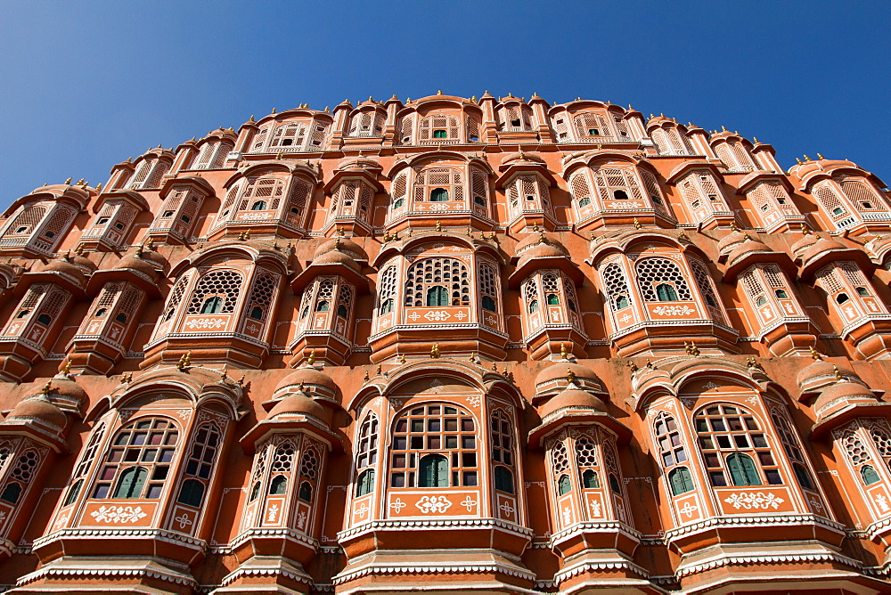 The Hawa Mahal Palace of the Winds in central Jaipur, India