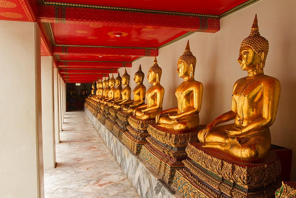 Buddhas of Wat Pho, Bangkok, Thailand, Southeast Asia, Asia - 1262-134