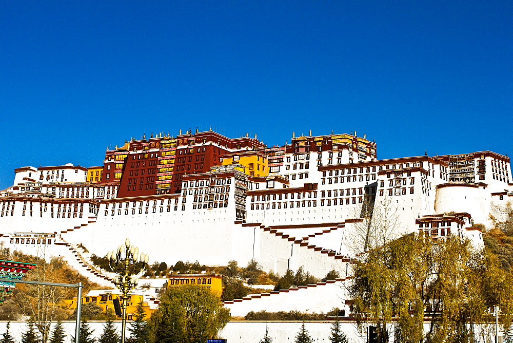 The Potala Palace under blue sky, Lhasa, Tibet