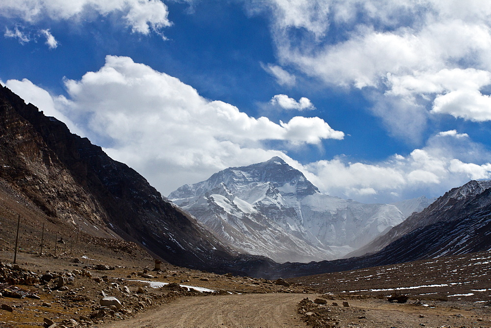 Mount Everest Base Camp on the Tibetan side, Himalayas, Tibet, China, Asia