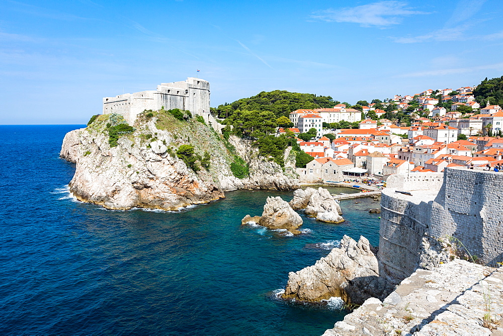The historical fortress of Lovrijenac, Dubrovnik, Croatia, Europe