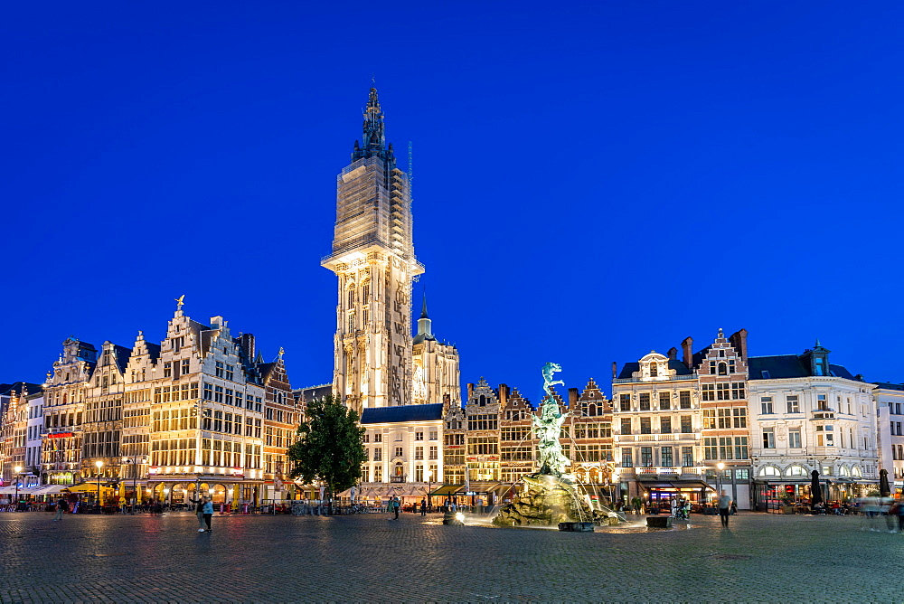 The Grote Markt in the historic centre, Antwerp, Belgium, Europe - 1263-165