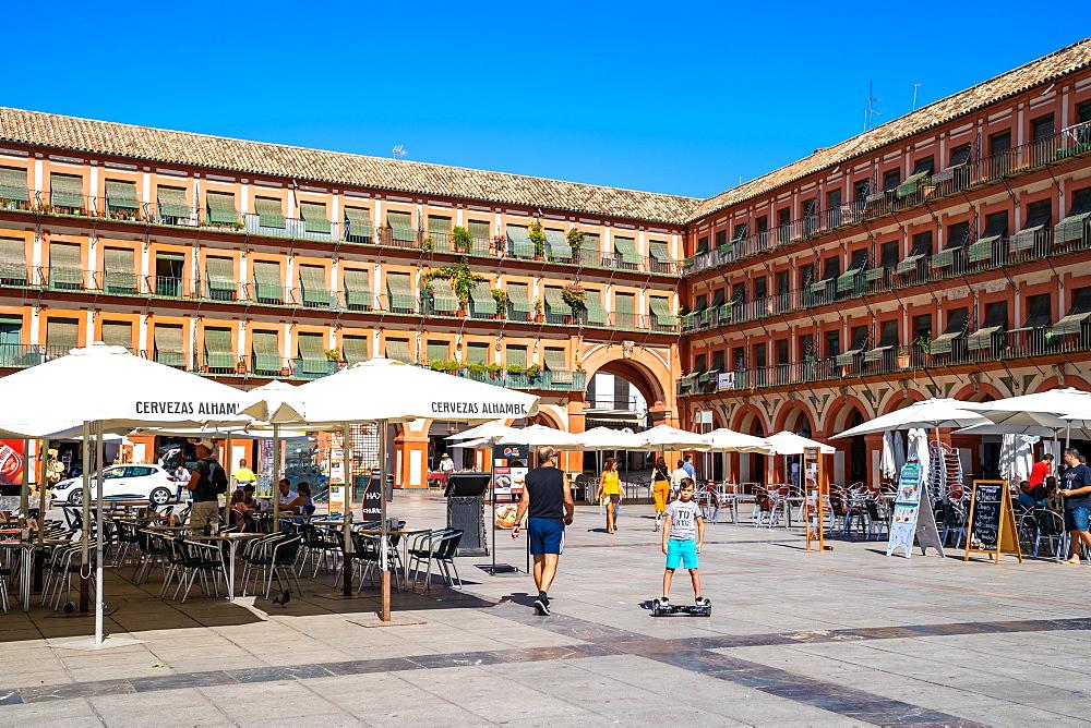 The large 17th Century Plaza de la Corredera square in Cordoba, Cordova, Andalusia, Spain. - 1263-243