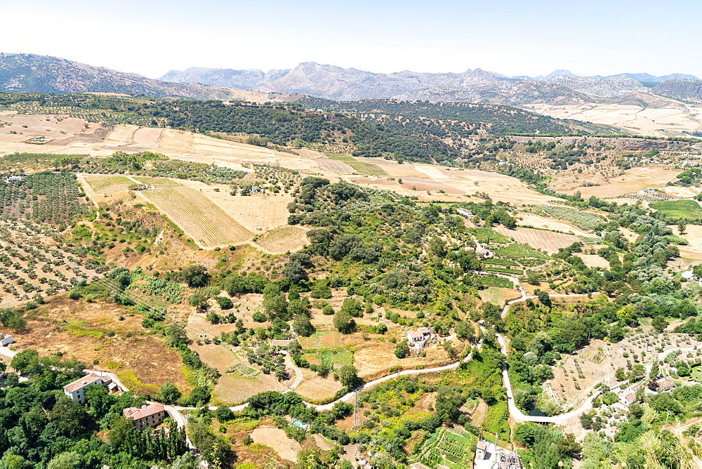 Andalusia countryside viewed from the town of Ronda, Malaga province. Spain. - 1263-269