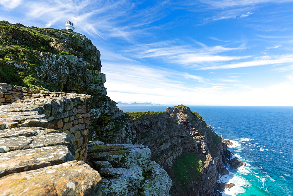Lighthouse and Cape Point on the Cape Peninsula, South Africa, Africa