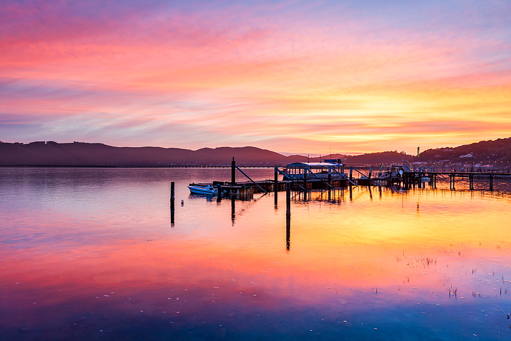 Sunset over Knysna Lagoon, Garden Route, Western Cape, South Africa, Africa