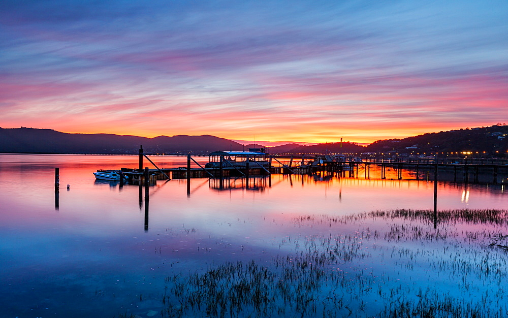 Sunset over Knysna Lagoon, Garden Route, Western Cape, South Africa, Africa - 1263-65
