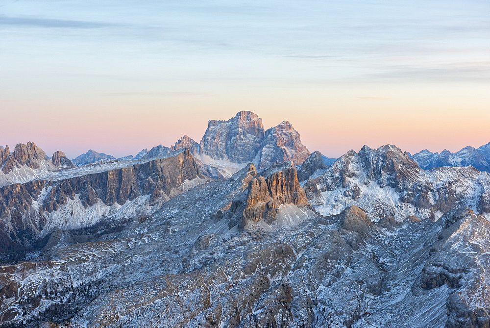 Pelmo at sunset, Dolomites, Veneto, Italy, Europe - 1264-136