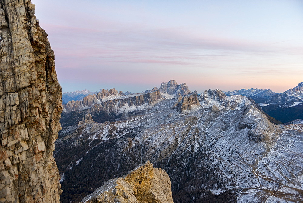 Pelmo at sunset, Dolomites, Veneto, Italy, Europe - 1264-138