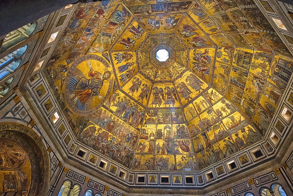Dome of Battistero San Giovanni, UNESCO World Heritage Site, Florence, Tuscany, Italy, Europe