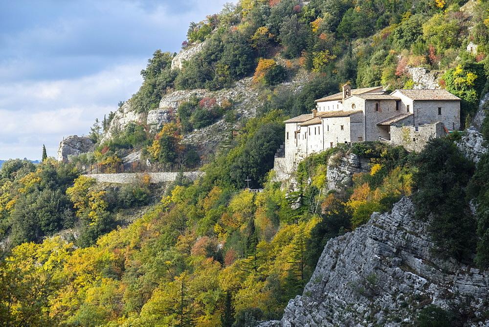 St. Ambrogio Hermitage, Gubbio, Apennines, Umbria, Italy, Europe