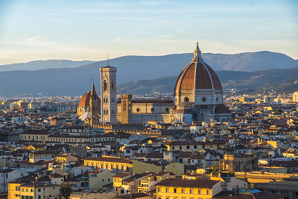 Stock photo of Sunset on Santa Maria del Fiore cathedral