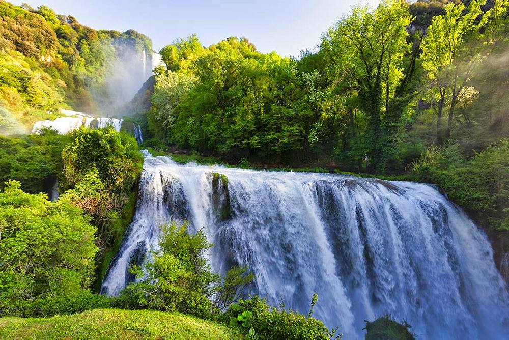 Marmore Waterfalls in spring, Marmore Waterfalls Park, Terni, Umbria, Italy, Europe - 1264-203
