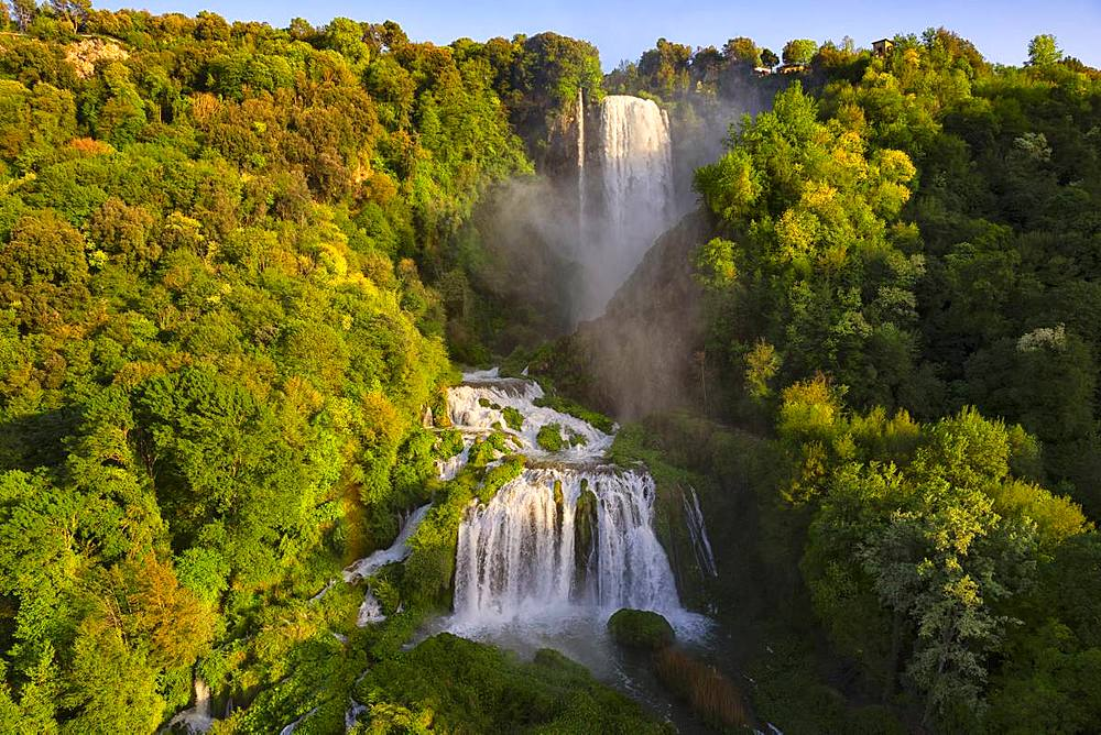 Marmore Waterfalls in spring, Marmore Waterfalls Park, Terni, Umbria, Italy, Europe - 1264-205