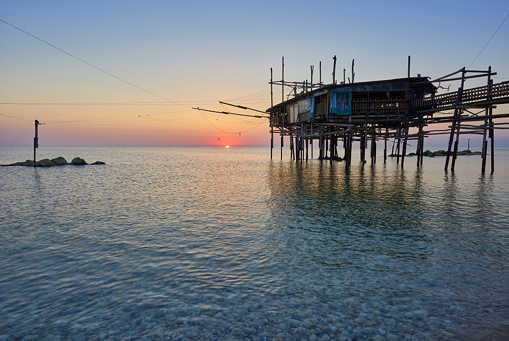 Sunrise, San Vito Chietino, Trabocchi coast, Abruzzo, Italy, Europe - 1264-210