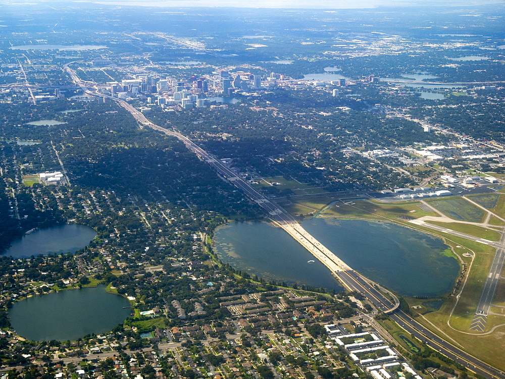 Aerial cityscape of Orlando, USA, North America
