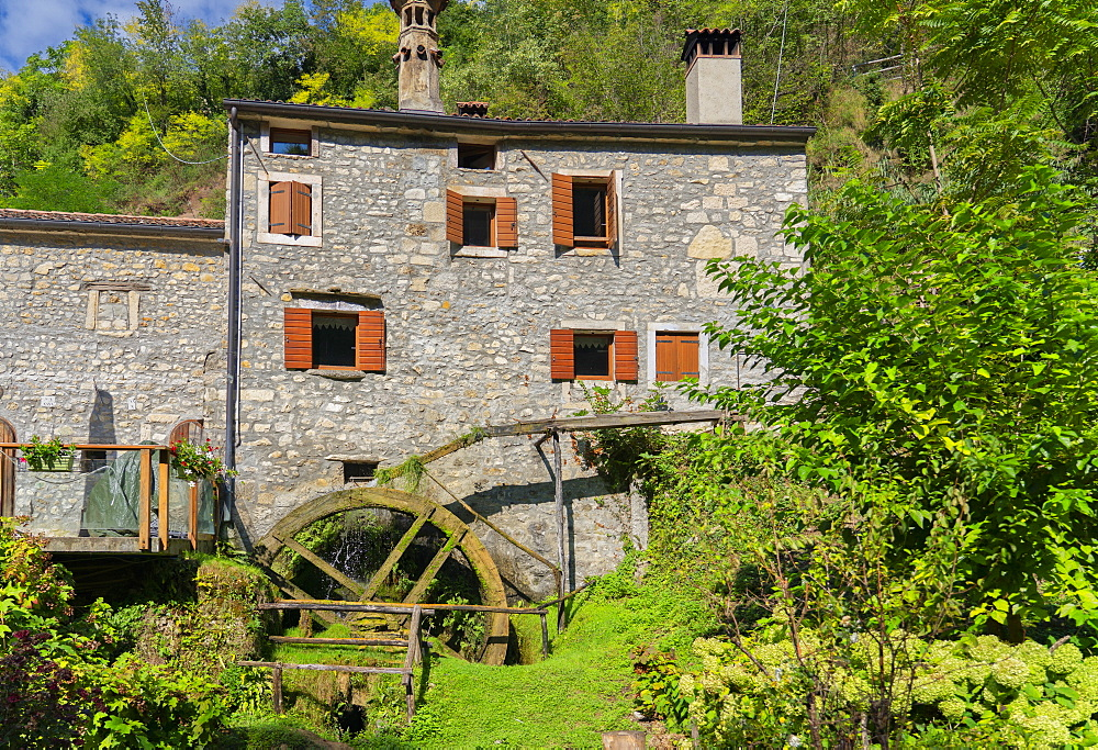 Italy, Veneto, Caglieron caves, Old water mill - 1264-248