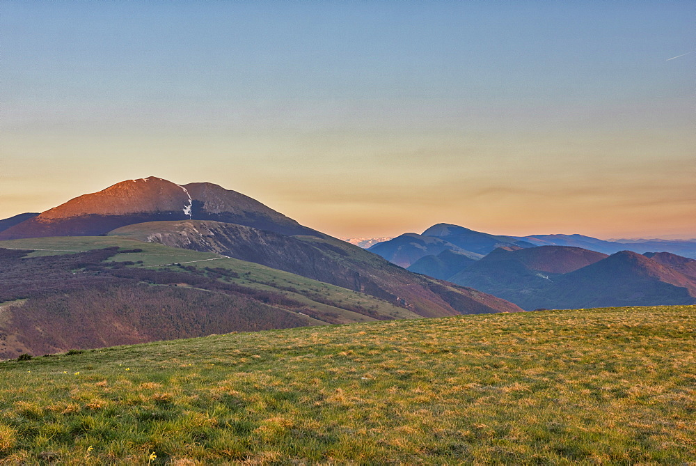 Mount Petrano, sunset on Apennines, Marche, Italy, Europe - 1264-37