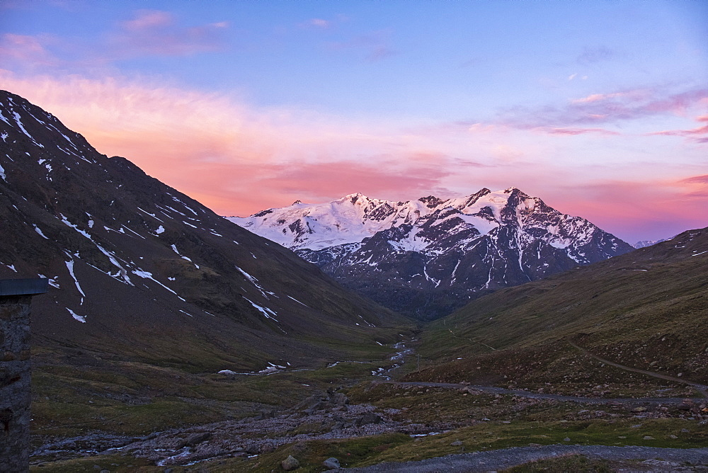 Glacier Forni at sunrise, Valfurva, Lombardy, Italy, Europe - 1264-48