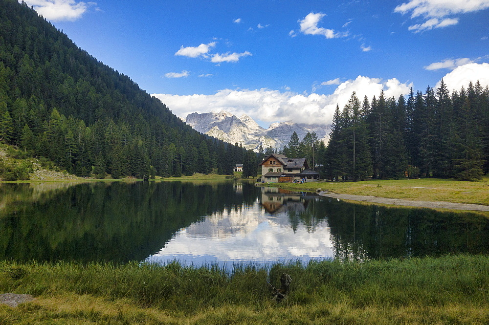 Lake Nambino and Brenta mountain range, Rendena Valley, Trentino, Italy, Europe - 1264-93