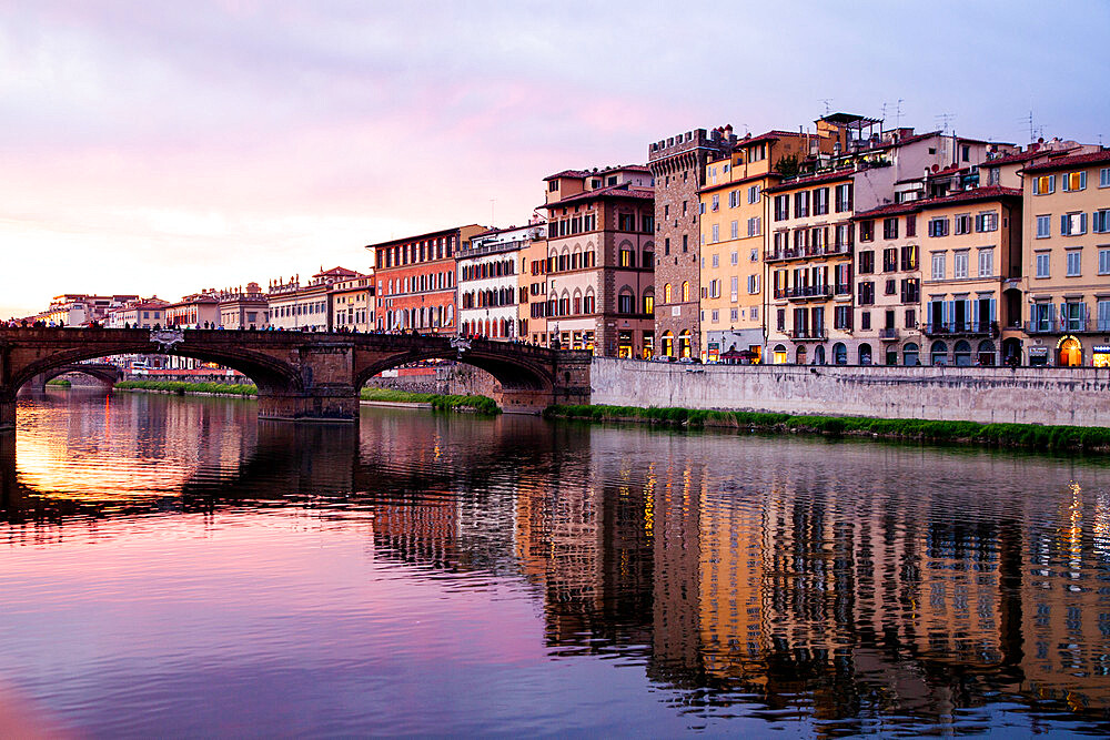 Ponte Vecchio over the Arno River, in Florence, Italy - 1265-128