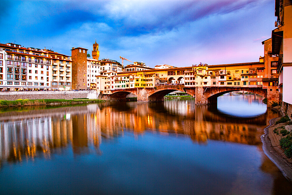 Ponte Vecchio over the Arno River, in Florence, Italy - 1265-129