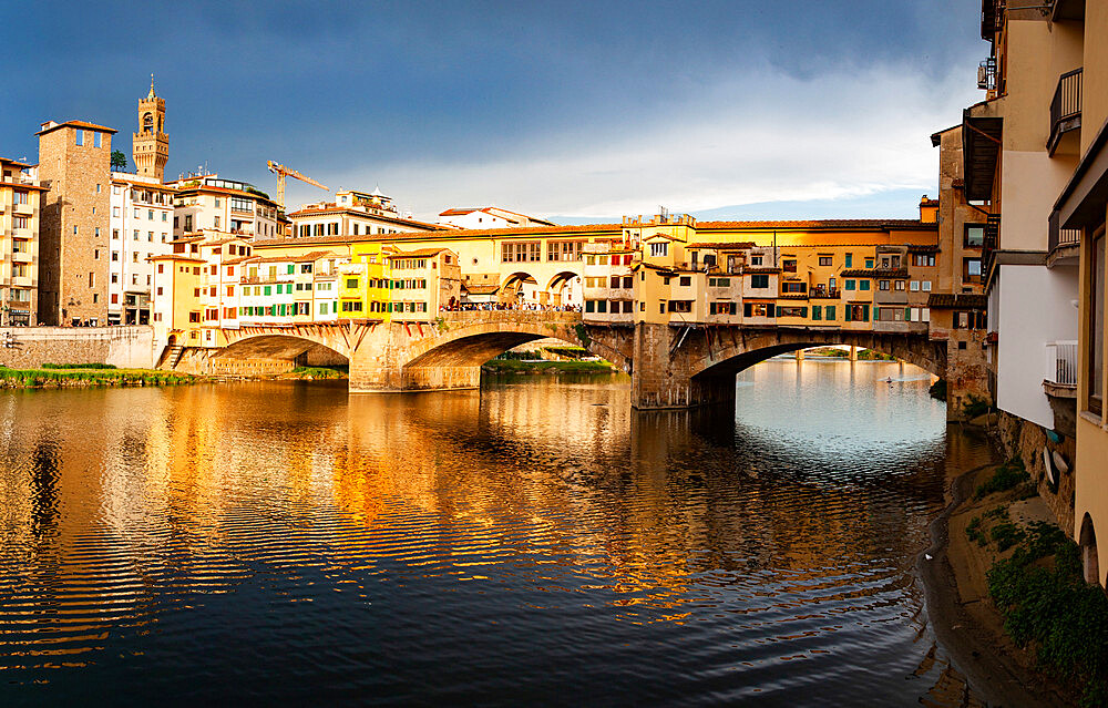 Ponte Vecchio over the Arno River, in Florence, Italy - 1265-135