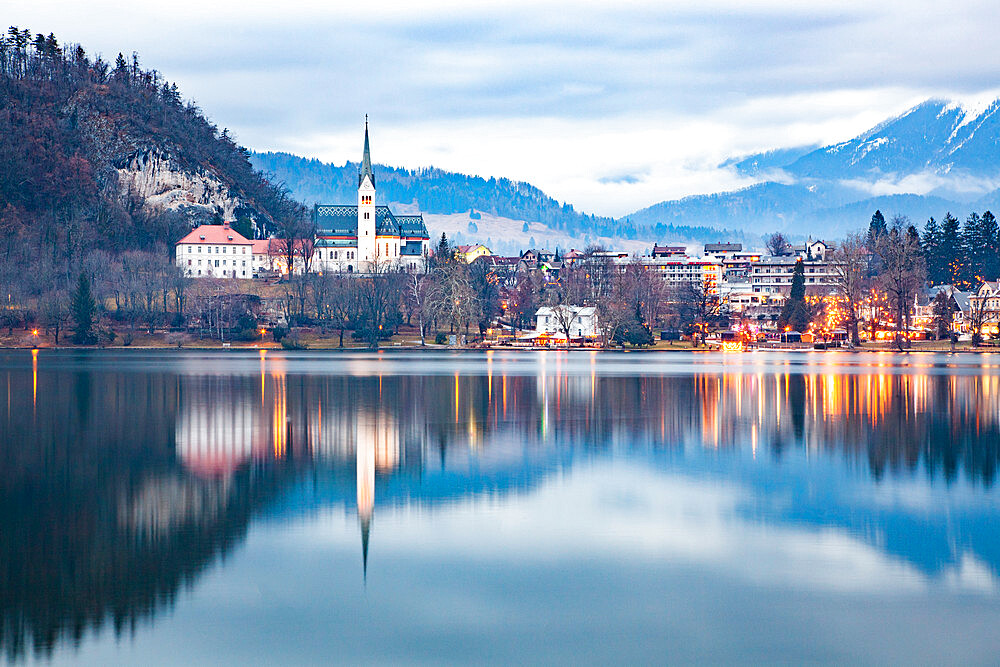 Lake Bled in the Julian Alps of the Upper Carniolan region of northwestern Slovenia - 1265-143