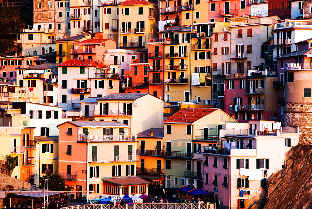 Houses in Manarola, Cinque Terre National Park, UNESCO World Heritage Site, Liguria, Italy, Europe - 1265-3