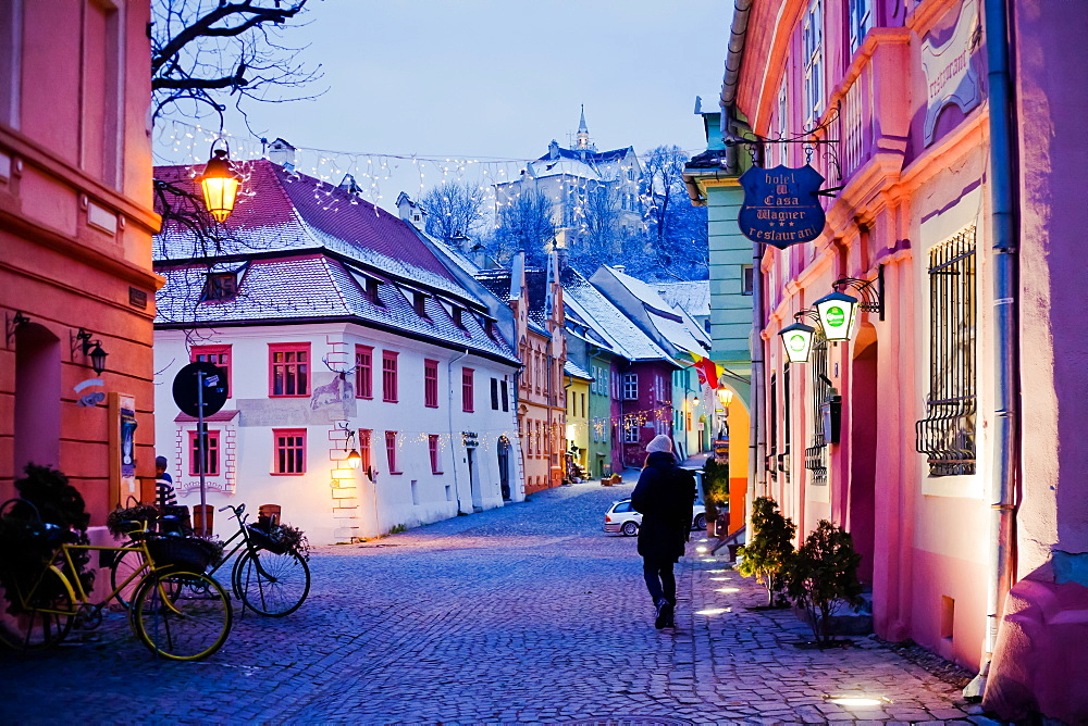 Sighisoara medieval town, UNESCO World Heritage Site, Transylvania, Romania, Europe - 1265-44