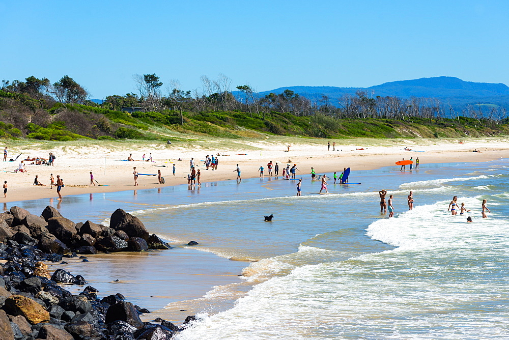 Byron bay Main beach, New South Wales, Australia.