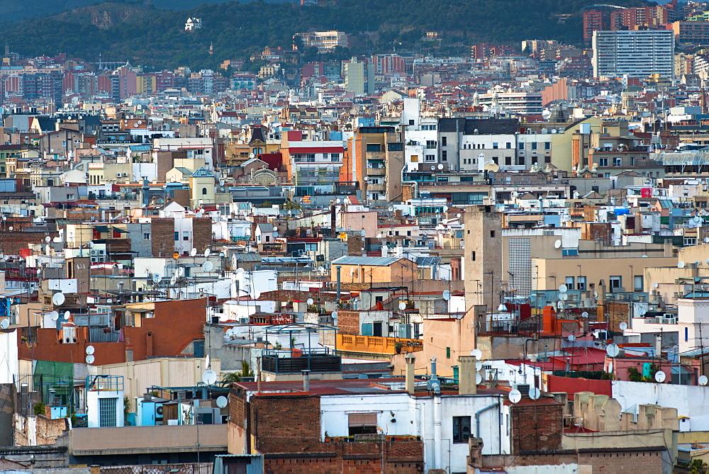 Urban sprawl, Barcelona, Catalonia, Spain, Europe