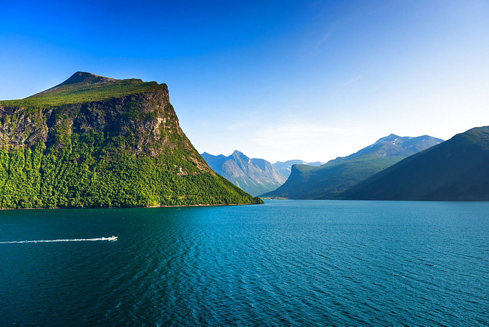 Nordfjord or Northern Fjord near Olden, Fjordane county, Norway.