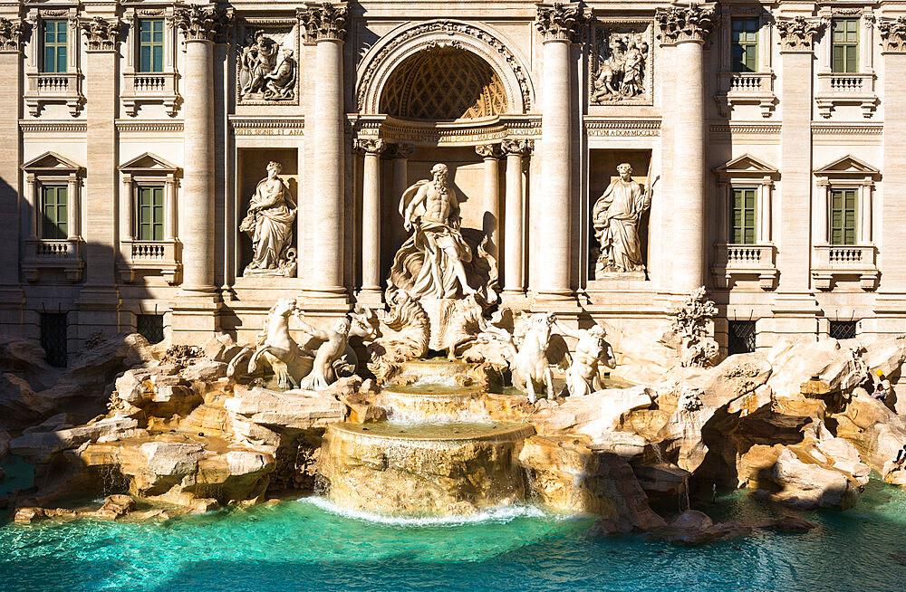 Trevi Fountain (Fontana di Trevi) in Rome, Lazio, Italy.