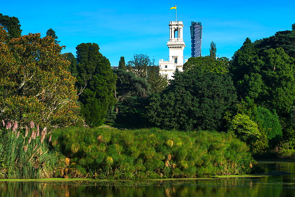 Royal Botanic Gardens with Government House, Melbourne, Victoria, Australia, Pacific