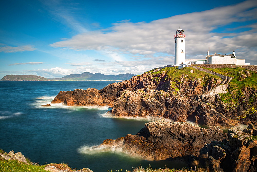 Seascape with Fanad Head lighthouse on County Donegal coast, Ulster region, Republic of Ireland, Europe - 1267-392