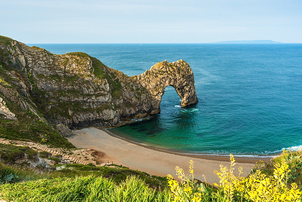 Durdle Door on England's Jurassic Coast, UNESCO World Heritage Site, Dorset, England, United Kingdom, Europe