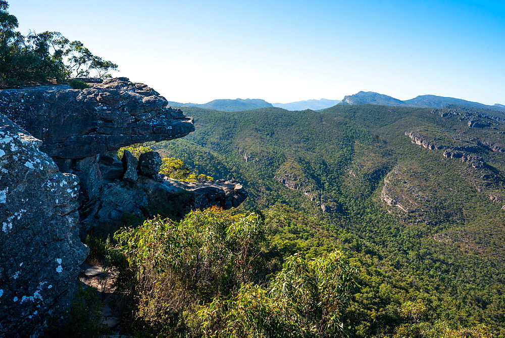The Grampians National Park seen from Reed Lookout, Victoria, Australia.