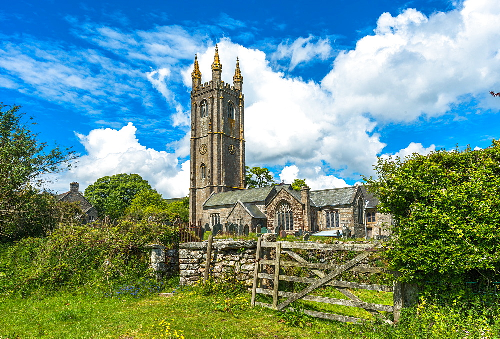 St. Pancras Church, Widecombe in the Moor village, in the Dartmoor National Park, Devon, England, United Kingdom, Europe - 1267-445