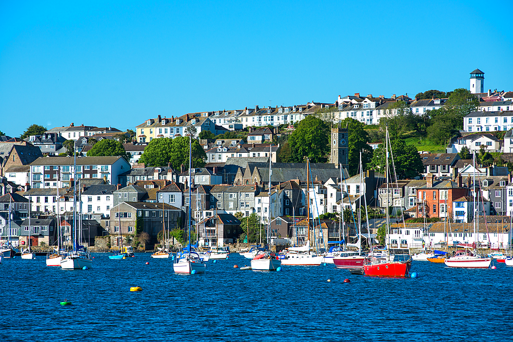 Falmouth seen from the sea, Cornwall, England, United Kingdom, Europe - 1267-460