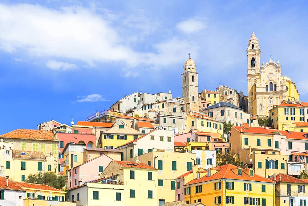 Colorful houses of Cervo village. Cervo, Imperia province, Liguria, Italy, Europe. - 1269-129