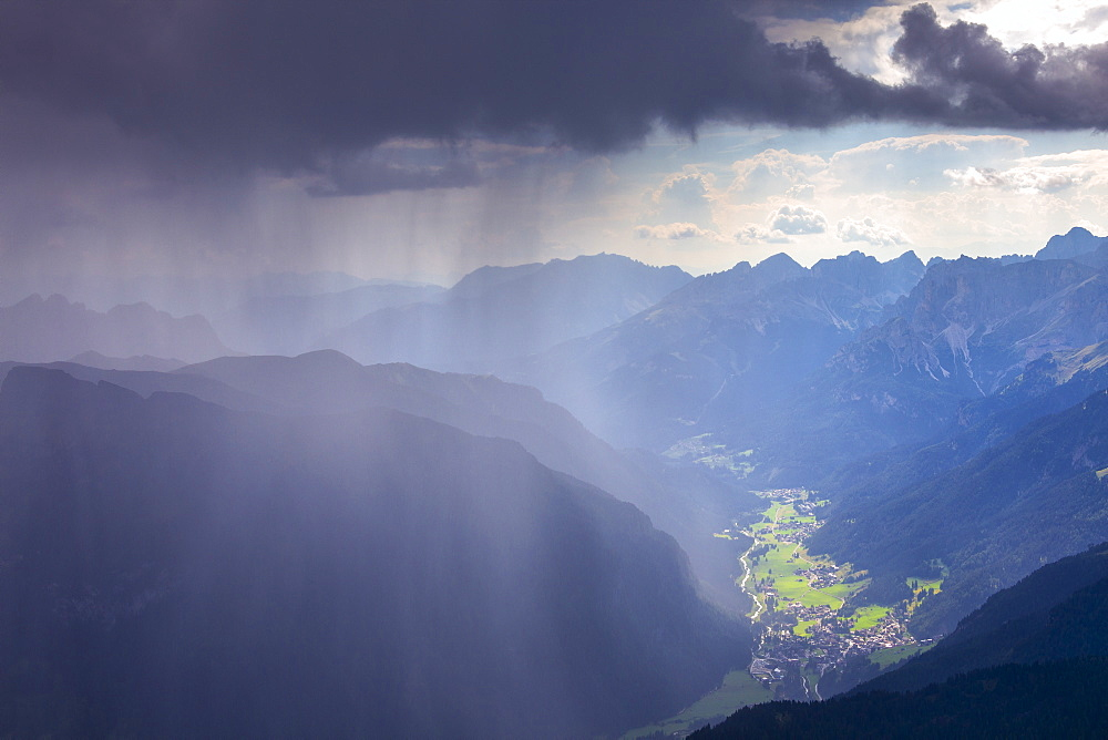 Summer storm in Fassa Valley, Trentino, Dolomites, Italy, Europe