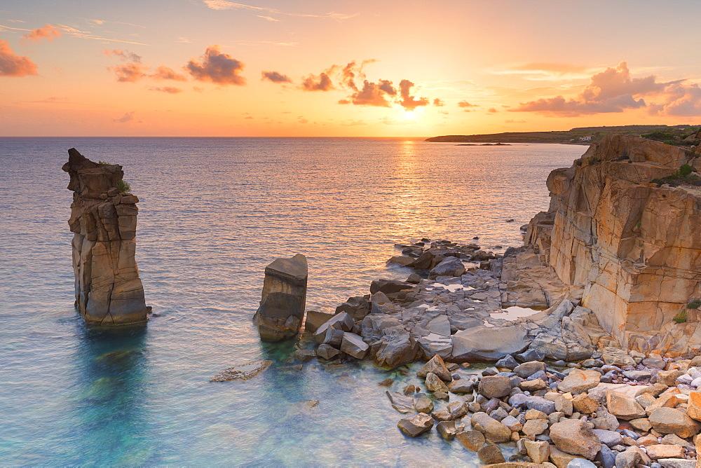 Sunset at Colonne di Carloforte, San Pietro Island, Sud Sardegna province, Sardinia, Italy, Europe. - 1269-360