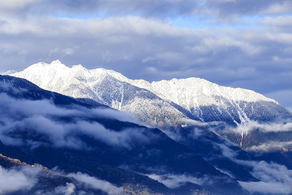 Orobie Alps after a snowfall, Valtellina, Sondrio province, Lombardy, Italy, Europe - 1269-468